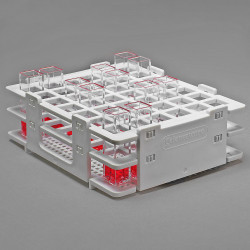 Bel-Art No-Wire Cuvette Rack; For 10mm Cuvettes, 42 Places