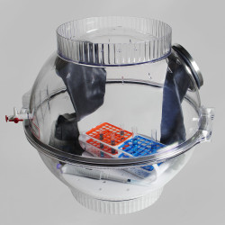 Bel-Art Polycarbonate Techni-Dome 360 Degree Glove Box Chamber; 22 x 22 in., 65 Liters