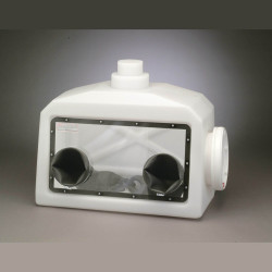 Bel-Art Portable Glove Box System with 2 Gas Ports, Gloves, and Clamping Rings; 27 x 13 x 22 in.