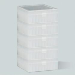 Bel-Art 100-Place Plastic Freezer Storage Boxes; Natural (Pack of 5)