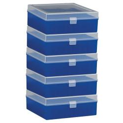 Bel-Art 100-Place Plastic Freezer Storage Boxes; Blue (Pack of 5)