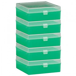 Bel-Art 100-Place Plastic Freezer Storage Boxes; Green (Pack of 5)