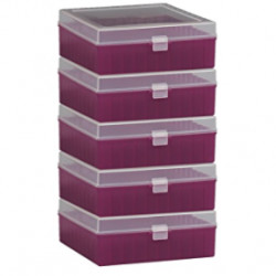 Bel-Art 100-Place Plastic Freezer Storage Boxes; Purple (Pack of 5)