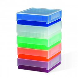 Bel-Art 81-Place Plastic Freezer Storage Boxes; Blue (Pack of 5)