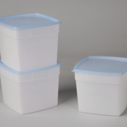 Bel-Art Polyethylene Freezing and Storage Containers; 4⅞ x 4⅞ x 6¾ in. (Pack of 3)