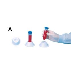 Bel-Art Conical Tube Holder; For 50ml Tubes, Grip Style, Polystyrene, Blue (Pack of 5)