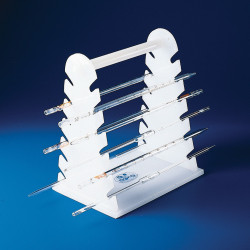 Bel-Art Pipette Support Rack; 22cm and Longer, 12 Places, 9½ x 7 x 11½ in., Polyethylene