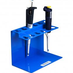 Bel-Art Poxygrid Aluminum Microliter Pipettor Rack for Gilson Pipetman for Desktop Storage
