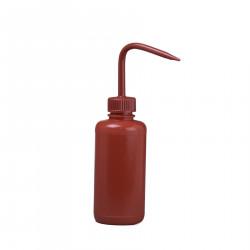 Bel-Art 250ml Red Polyethylene Wash Bottle & Cap, 28mm Closure (Pack of 6)