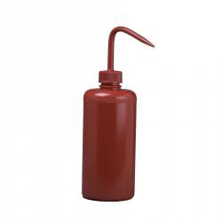 Bel-Art 500ml Red Polyethylene Wash Bottles & Cap, 28mm Closure (Pack of 6)