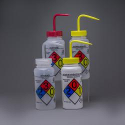 Bel-Art GHS Labeled Safety-Vented Assorted Wash Bottles; 500ml (Pack of 4)