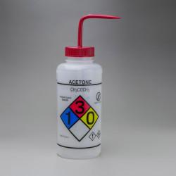Bel-Art GHS Labeled Safety-Vented Acetone Wash Bottles; 1000ml (Pack of 2)
