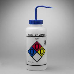 Bel-Art GHS Labeled Safety-Vented Distilled Water Wash Bottles; 1000ml (Pack of 2)