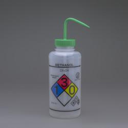 Bel-Art GHS Labeled Safety-Vented Methanol Wash Bottles; 1000ml (Pack of 2)