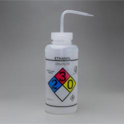 Bel-Art GHS Labeled Safety-Vented Ethanol Wash Bottles; 1000ml (Pack of 2)