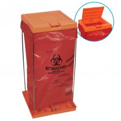 Bel-Art Clavies® Orange Biohazard Bag Holder Cover (For F13192-0002 and F13192-0003)