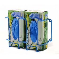 Bel-Art Poxygrid Glove Dispenser Rack; Double Box Holder, 12 x 4¼ x 8¼ in., Blue