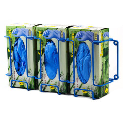 Bel-Art Poxygrid Glove Dispenser Rack; Triple Box Holder, 17½ x 4¼ x 8¼ in., Blue
