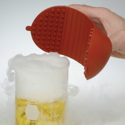 Bel-Art The Original Hot Hand Protector; Silicone, 10 x 19cm, Red