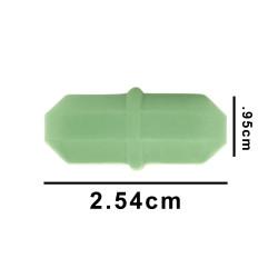 Bel-Art Spinbar® Rare Earth Teflon® Octagon Magnetic Stirring Bar; 2.54 x 0.95cm, Green