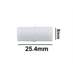 Bel-Art Spinbar® Teflon® Cylindrical Magnetic Stirring Bar; 25.4 x 8mm, White