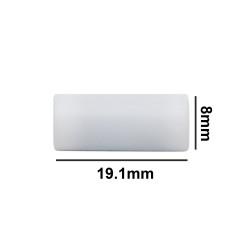 Bel-Art Spinbar® Teflon® Cylindrical Magnetic Stirring Bar; 19.1 x 8mm, White