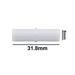Bel-Art Spinbar® Teflon® Cylindrical Magnetic Stirring Bar; 31.8 x 8mm, White