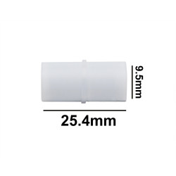 Bel-Art Spinbar® Teflon® Cylindrical Magnetic Stirring Bar; 25.4 x 9.5mm, White