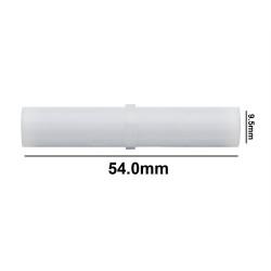 Bel-Art Spinbar® Teflon® Cylindrical Magnetic Stirring Bar; 54.0 x 9.5mm, White