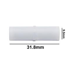 Bel-Art Spinbar® Teflon® Cylindrical Magnetic Stirring Bar; 31.8 x 9.5mm, White