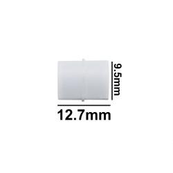 Bel-Art Spinbar® Teflon® Cylindrical Magnetic Stirring Bar; 12.7 x 9.5mm, White
