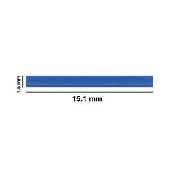 Bel-Art Spinbar® Teflon® Micro (Flea) Magnetic Stirring Bar; 15.1 x 1.5mm, Blue
