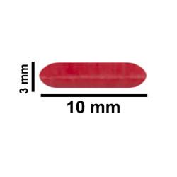 Bel-Art Spinbar® Teflon® Micro (Flea) Magnetic Stirring Bar; 10 x 3mm, Red