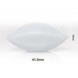 Bel-Art Spinbar® Teflon® Elliptical (Egg-Shaped) Magnetic Stirring Bar; 41.3 x 19mm, White