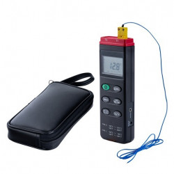 Bel-Art H-B DURAC Calibrated Thermocouple Thermometers; -200/1370°C (-328/2498°F), 2 Probe (K/J)