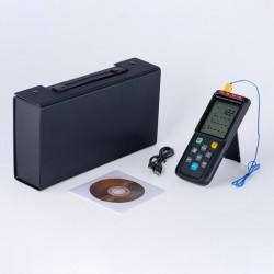 Bel-Art H-B DURAC Calibrated Thermocouple Thermometers; -200/1370°C (-328/2498°F), 4 Probe (K/J/E/T)
